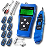NOYAFA NF-388 Multipurpose Network Cable Tester Tracker Tracer with 8 Far-end Jacks for Test Ethernet LAN Phone wire USB coaxial