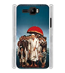 Lord Shirdi Sai Baba Sab Ka Malik Ek Soft Silicon Rubberized Back Case Cover for Intex Aqua R3 Plus
