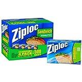 Ziploc Sandwich Bags - 4/125 ct. Bags (500 Total)