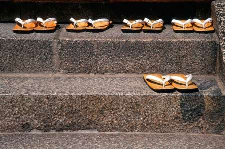japan-kyoto-zori-sandals-on-steps-of-a-shrine-created-by-ross-nancy-steve-fine-art-print-on-canvas-g