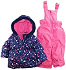 Pink Platinum Baby Girls All Over Hearts Two Piece Snowsuit Set