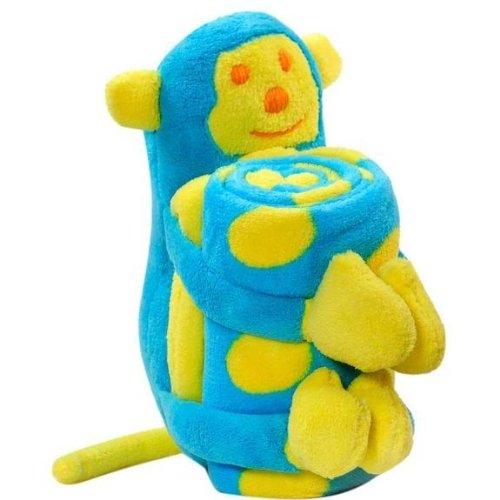 Elegant Baby Blanket 30 x 38 and Toy Set - Monkey - 1