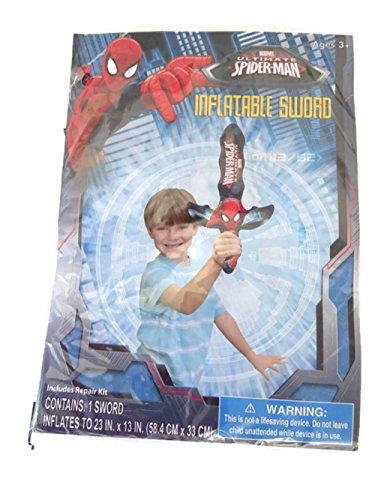 Marvel Ultimate Spiderman Swim Time Pool Fun Toy Bundle Kickboard Splash Goggles Swim Mattress