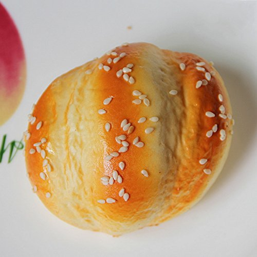 Gresorth 6 pcs pu material fake cake artificial sesame for Artificial bread decoration