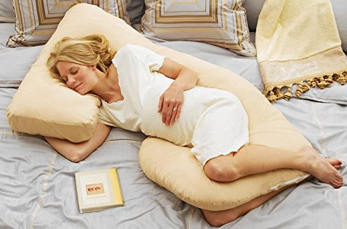 Today's Mom Cozy Cuddler Pregnancy Pillow, Almond