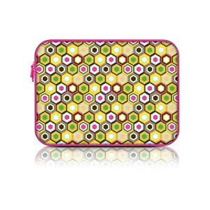 Macbeth Collection Neoprene Zipper Fashion Laptop Sleeve (15.6 Inch, Disco Confetti) by Merkury Innovations