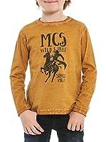 M C S Camiseta Manga Larga Jersey Old Dyed (Caramelo)