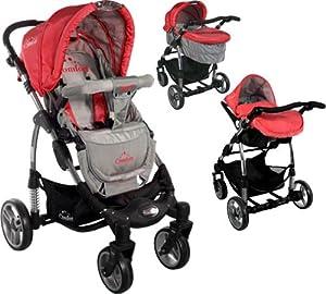 Carrito convertible con capazo y silla de cocheARTI Comfort B503 3w1 Red