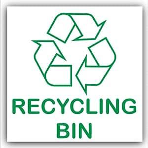 poubelle de recyclage tri s lectif sticker autocollant logo sign tiquette environnement amazon. Black Bedroom Furniture Sets. Home Design Ideas