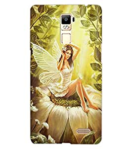 ColourCraft Butterfly Girl Design Back Case Cover for OPPO R7