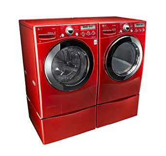 Amazon Com Lg Quot Wild Cherry Red Quot Steam Laundry Pair With