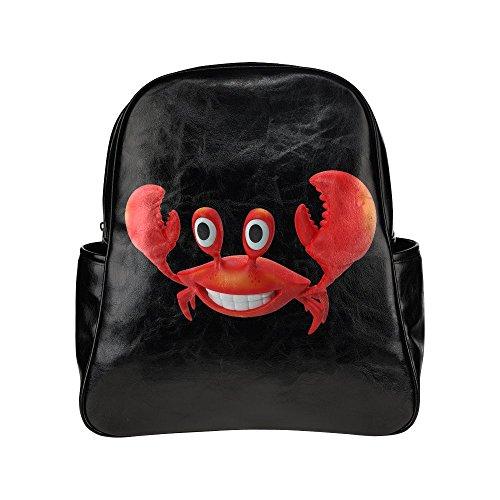treety-funny-red-crab-black-diy-multi-pocket-backpack-bag
