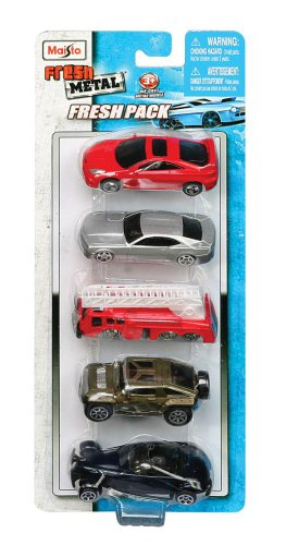Diecast Cars in a Fresh Metal 5 Pack in a 1:64 Scale Manfactured by Maisto - 1