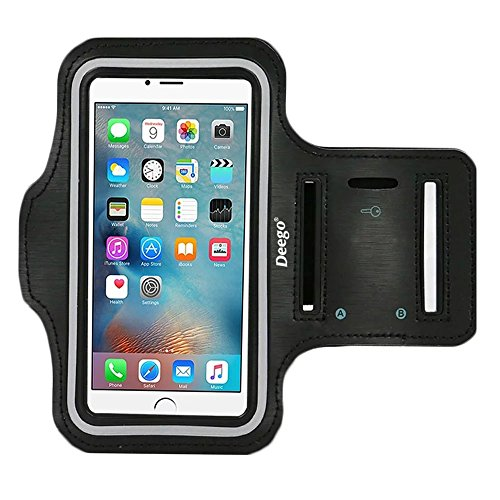 iPhone 6 Plus , iPhone 6S Plus Armband, Nancy's shop Premium Exercise Sports Easy Fitting Slim Scratch-Resistant Running Walking Water Resistant+ Key Holder Slot For iphone 6 Plus 5.5 Inch (I Phone 6 S Accessories compare prices)