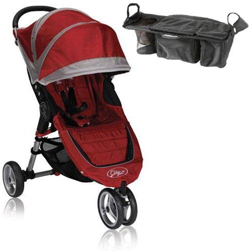 Baby Jogger Bj11236 City Mini Single With Parent Console - Crimson Gray front-174193