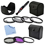BIRUGEAR 58mm 7pc Lens Filter Accessory Kit + Flower Lens Hood + Lens Pen&Cleaning Cloth for Canon EOS 1100D, 1000D, 100D, 700D, 650D, 600D, 550D, 500D, 450D, 400D, 60Da, 60D, 7D, 5D Mark III, 5D Mark II with Canon Lenses (18-55mm, 75-300mm, 50mm 1.4, 55