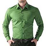 Being Fab Green Cotton Shirt