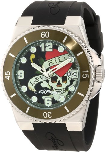 Ed Hardy Men's FU-LK Fusion Green Watch