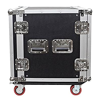 Seismic Audio - 12 SPACE RACK CASE for Amp Effect Mixer PA DJ PRO with Casters from Seismic Audio