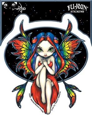 Jasmine Becket-Griffith - Rainbow Fairy - Sticker / Decal - 1
