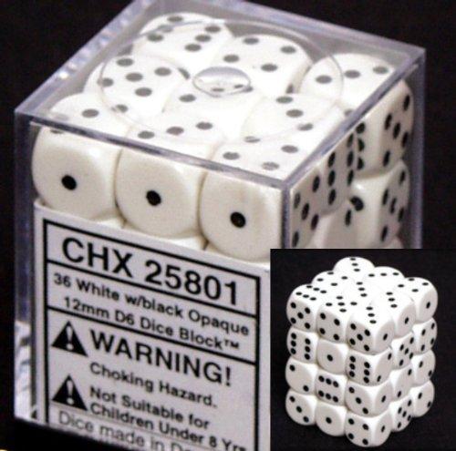 chessex-opaque-12mm-d6-white-w-black-dice-block-36-dice