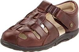 Stride Rite SRT Harper Fisherman Sandal (Infant/Toddler), Brown, 3 M US Infant