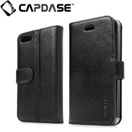 CAPDASE iPhone5 Folder Case Sider Classic, Black フォルダーケース サイダー・クラシック, ブラック よこ開き ブックタイプ ケース (スタンド機能、カードホルダーつき) FCIH5-SC11