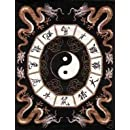 Asian Dragon Yin Yang Polar Fleece Throw Blanket