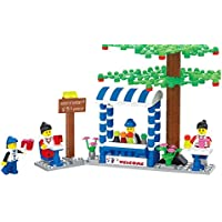 Cold Drinks Shop 191 Pcs Smoothies Drink Shop Building Blocks Set With Huge Tree, Flowering Plants, Table, Counters...
