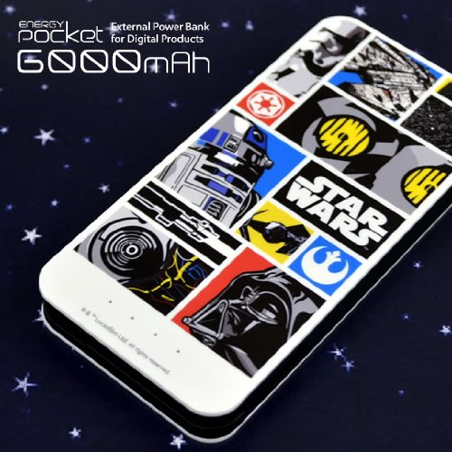 ENERGY Pocket(モバイルバッテリー)6000mAh STAR WARS(コミック)