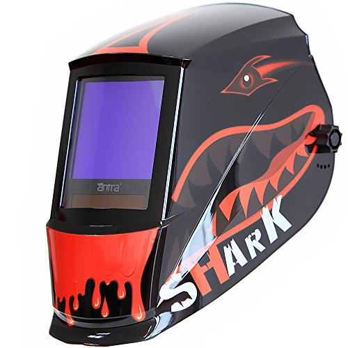 Jumbo-Size-Antra-AH7-860-7315-Solar-Power-Auto-Darkening-Welding-Helmet-with-AntFi-X60-8-Wide-Shade-Range-45-99-13-with-Grinding-Feature-Extra-lens-covers-Good-for-TIG-MIG-MMA-Plasma