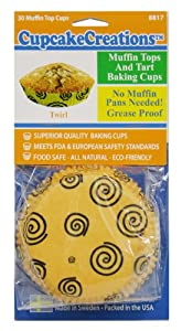 Cupcake Creations 30 Count Twirl Muffin Top & Tart Cups