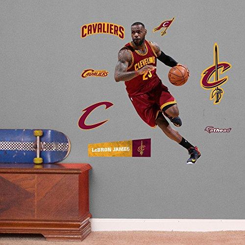 NBA Cleveland Cavaliers LeBron James Drive Fathead Junior Wall Decals, 23
