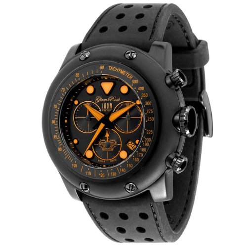 Glam Rock GR90108 - Reloj cronógrafo de cuarzo para hombre con correa de caucho, color negro