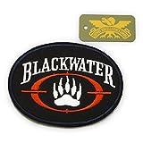 パッチ ワッペン 【 BLACK WATER ブラックウォーター 布刺繍 徽章 】 PMC 民間軍事会社 ゼー・サービシズ LLC 米軍 アメリカ軍 民兵 傭兵 サバゲー 装備 ( ワッペン BLACKWATER ) gs332
