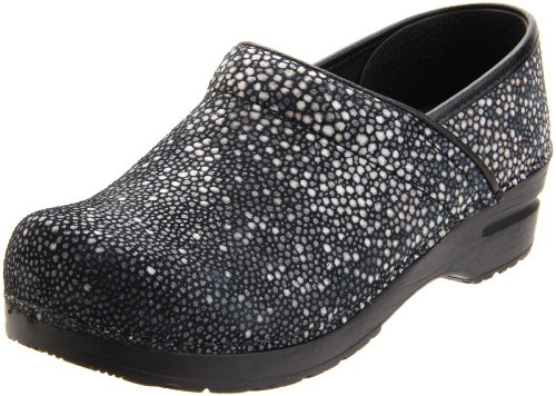 Sanita Women's Professional Alisa Clog,Black,38 EU/7.5-8 M US