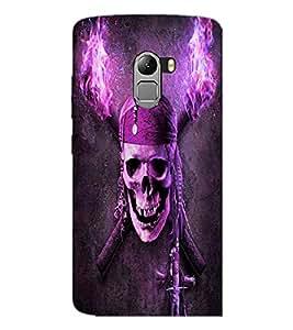 PrintDhaba Pirate Skull D-4844 Back Case Cover for LENOVO VIBE X3 LITE (Multi-Coloured)