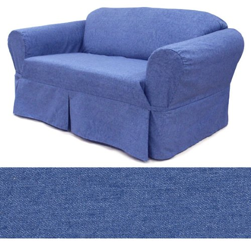 Jeans Tumbled Furniture Slipcover Loveseat 458