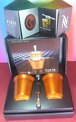 Nespresso Special Gift Set 2 Pixie Lungo Linizio Cups & Stirrers , In Brand Box , New (Nespresso Cups Lungo compare prices)