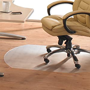 Cleartex Hardwood Contoured Chair Mat Home Office 49