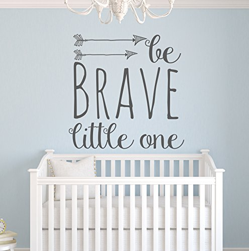 Be Brave Little One Wall Decal Quote – Nursery Wall Decals – Arrow Wall Decal – Baby Nursery Decor Vinyl Wall Decal