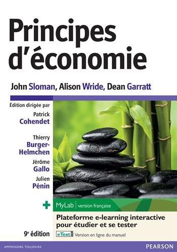 Principes d'économie : Livre + eText + MyLab : version française Licence étudiant 24 mois