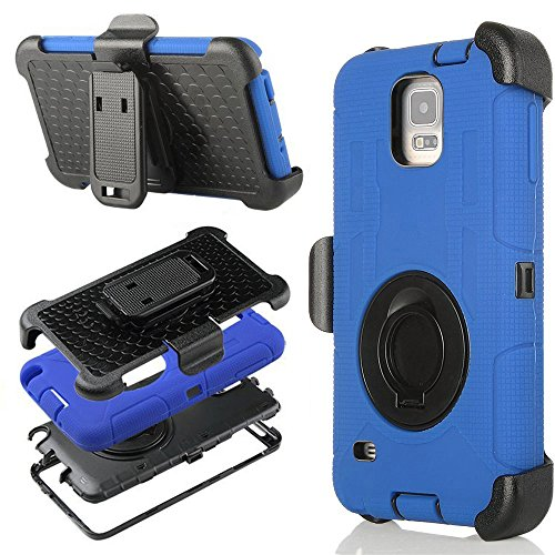 Galaxy S5 Case, ULAK Hybrid Rugged triple Layer Protection H