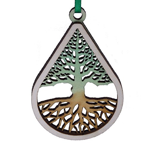Wooden Holiday Ornament Tree of Life- Made in Maine - Gift Boxed (Made In Maine compare prices)