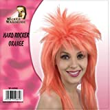 HARD ROCKER ORANGE WIG LADIES SEXY LOOK FANCY DRESS HALLOWEEN PARTY WEAR COSTUME
