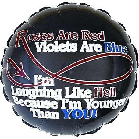"18"" Roses Are Red... Foil Balloon (1 per package) - 1"
