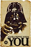 Star Wars Movie Your Empire Needs You Darth Vader Poster Print