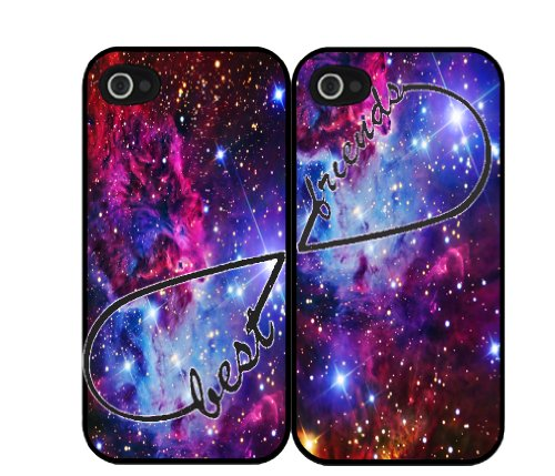 Purple Blue Fox Fur Nebula Infinity Sign Best Friends Set Iphone 5 Case