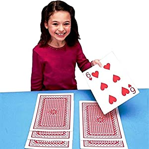 "Fantastic Deals Deck of 8"" x 11"" Jumbo Playing Cards Game Night Magic Tricks Casino Themed Party Decorations"