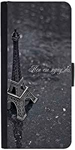 Snoogg Eiffel Love Designer Protective Phone Flip Case Cover For Htc Desire 526G Plus